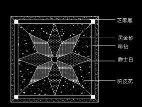 地面瓷砖拼花CAD图块