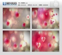 粉色爱心视频背景素材