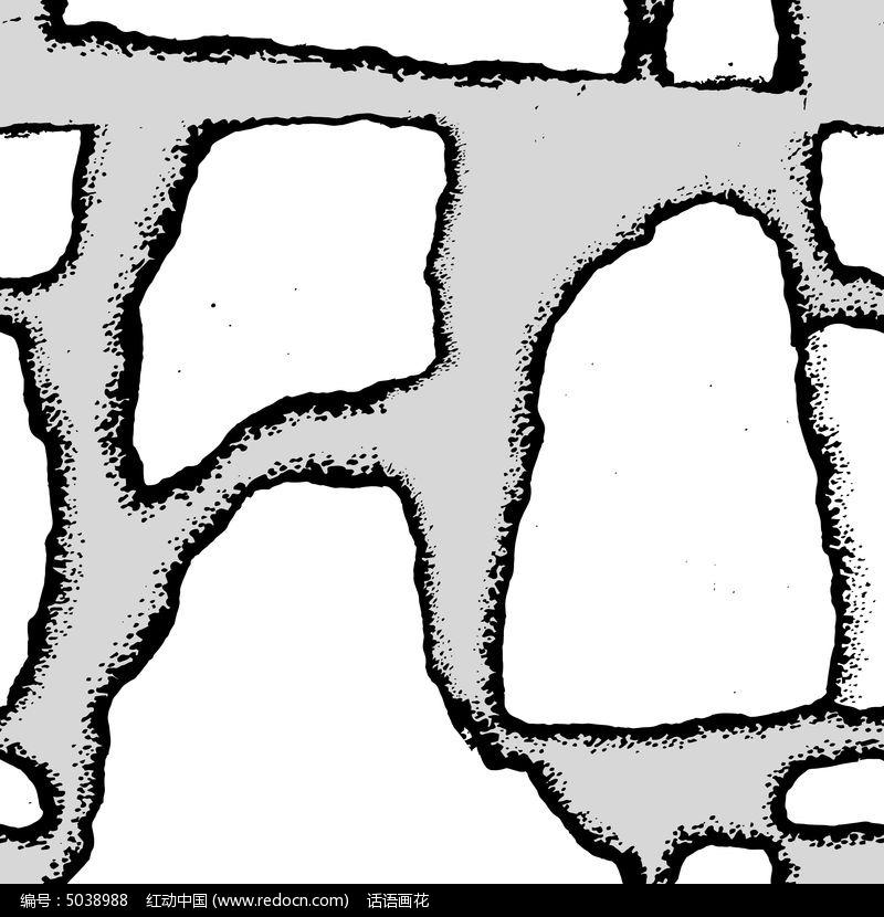 石头肌理连续纹样模板
