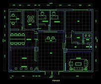 四特酒专卖店平面布置设计图 CAD