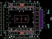 体育馆一层平面布置图 CAD