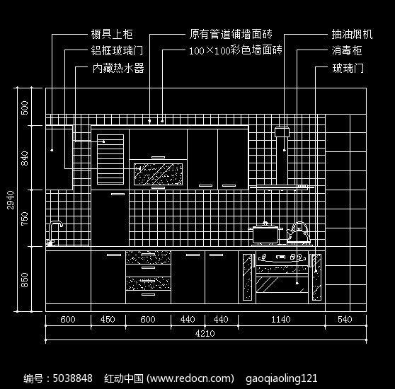 整体厨房装修立面设计图