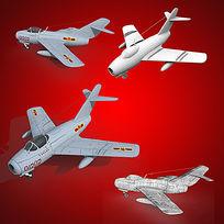 3dmax模型歼5战机 max