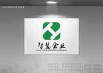 创意ZH字母组合标志设计
