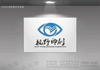大眼睛logo设计
