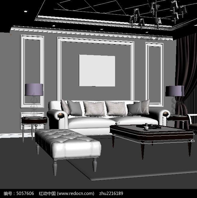 当前位置:原创设计稿>3D模型库>室内装修>简欧客厅沙发背景墙效果3D模型max