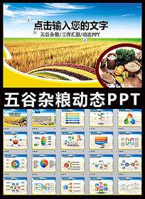 绿色健康农业丰收五谷杂粮ppt模板