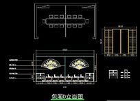 日式餐厅375平方包厢D立面图