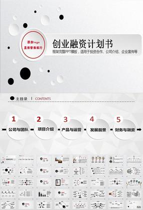 时尚风格创业计划书项目融资合作PPT模板