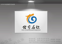 腾龙艺术logo设计