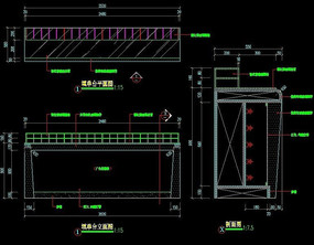 填单台三视图CAD图纸
