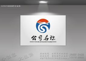弯曲中国龙标志设计
