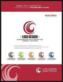 月亮凤凰简约女性品牌现代标志设计 CDR