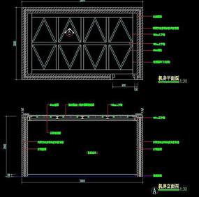证卷营业厅机房平面图