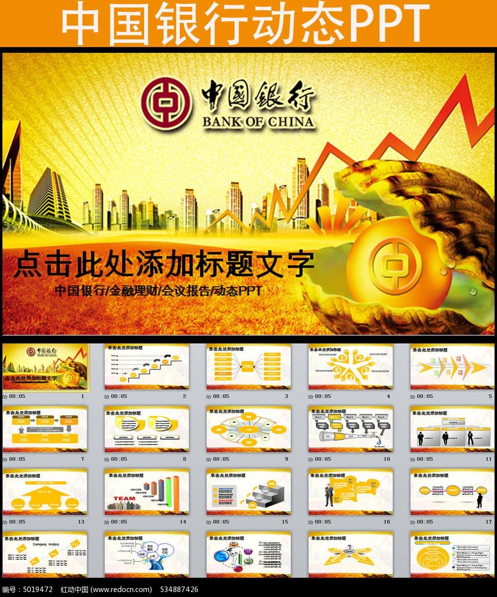 中国银行金融理财投资动态ppt模板图片
