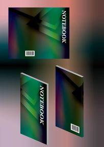 碧绿金属玉器感书籍封面模板