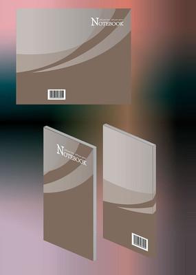 简约时尚简历笔记本通用封面模板