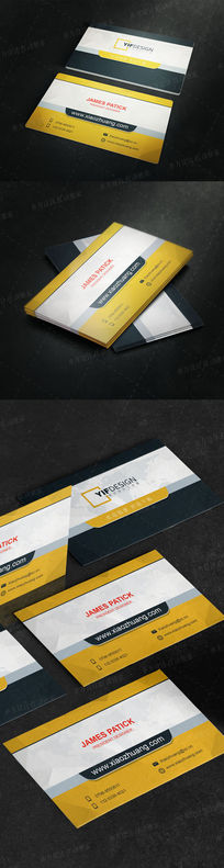 简约国际物流名片设计
