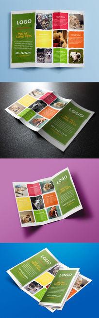 时尚宠物宣传折页设计