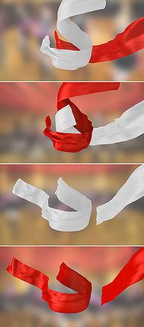 8款丝绸动态视频带透明通道