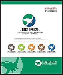 金融保险企业鹰标志设计