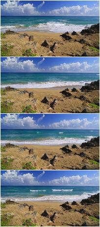 蓝天大海海边风景视频素材 mov
