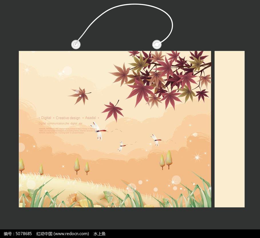 枫叶小山手提袋