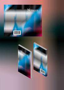 高档文艺色彩笔记本简历书籍封面模板