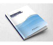 简约创意蓝色企业宣传画册封面