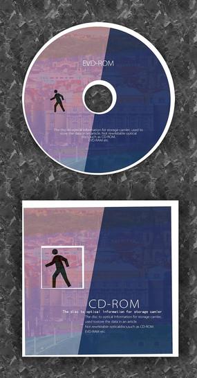 蓝粉俩色时光复古CD光盘设计 PSD