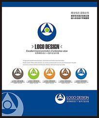 蓝色装饰广告室内家装公司企业标志