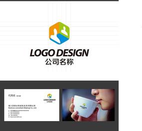 三维立体人像LOGO标志