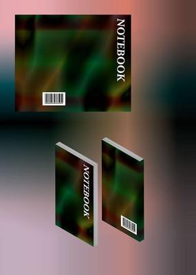 水纹设计浅绿色简历笔记本书籍封面模板