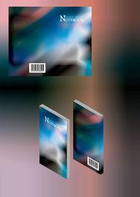 文艺抽象色彩笔记本简历书籍封面模板