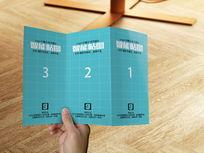宣传单三折页VI展示智能贴图