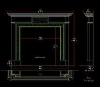 高档石材现代风格壁炉设计图纸