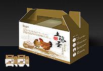 家养土鸡鸡蛋包装设计模板