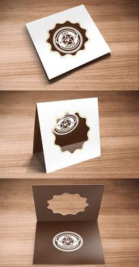 咖啡店卡片设计 PSD