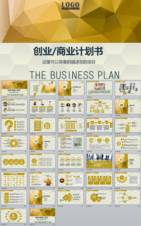 框架完整的创业计划书项目融资合作PPT模板