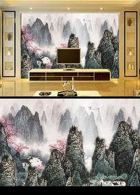 漓江山水水墨画电视背景墙