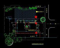 鲁讯公园店面原始结构及场地分析图