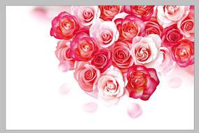 玫瑰鲜花印花图案