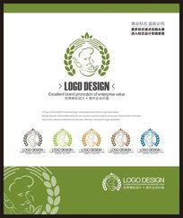 面点蛋糕连锁店创意品牌餐饮企业标志设计