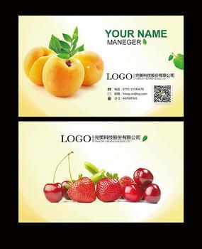 水果行业高档名片设计模板下载