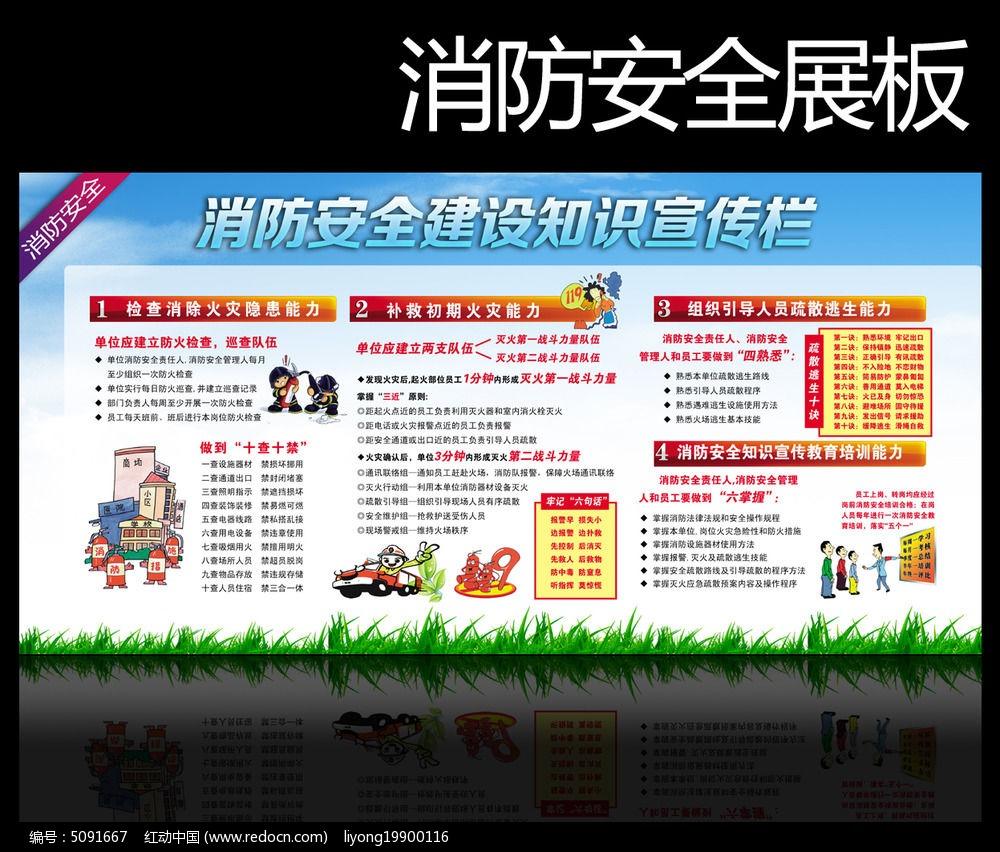 消防安全知识展板图片