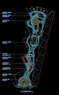 小区中心区造型景观平面CAD图纸