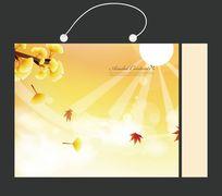 银杏叶金黄色手提袋