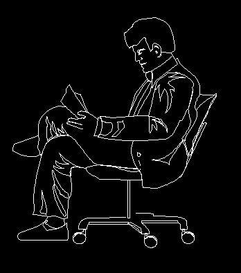 坐男人的图纸CAD设计图块_CAD证书图片素材二维cad师v男人椅子图片