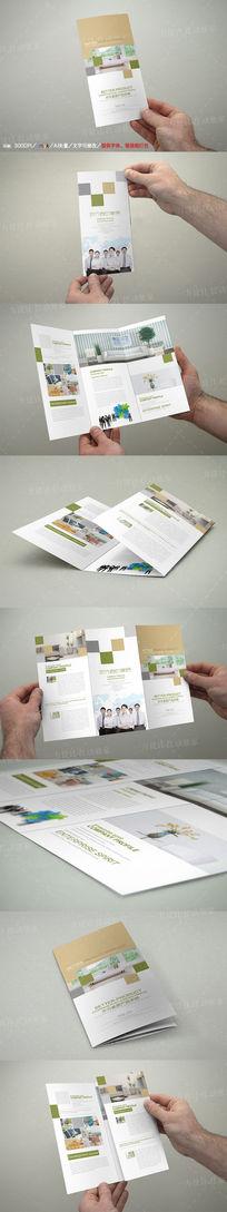 简约家具产品三折页设计