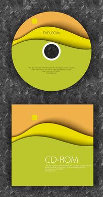 简洁波动暖色音乐潮流CD光盘设计